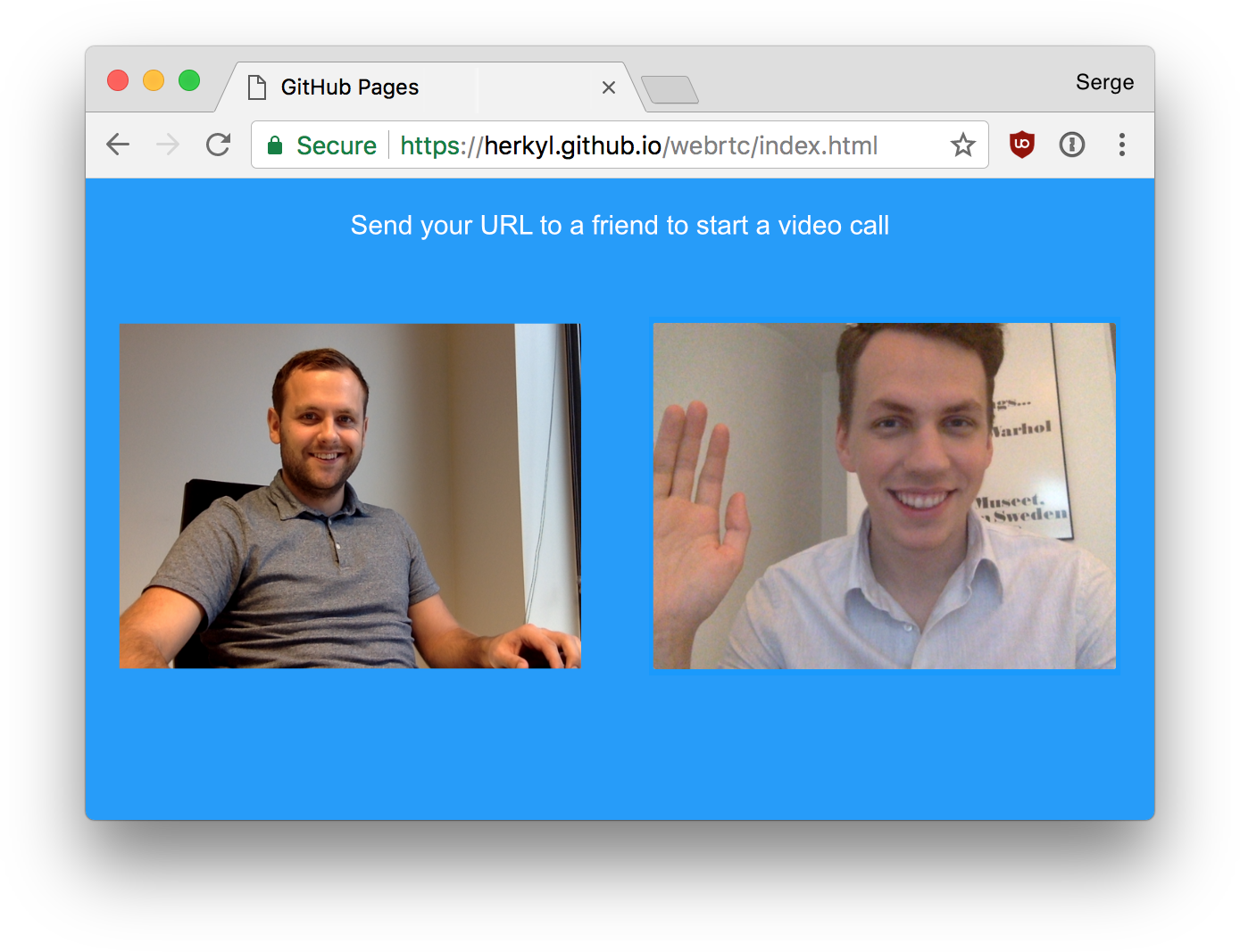 Simple Video Chatting with WebRTC | KIRUPA