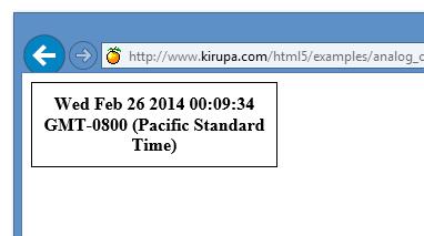 Create an Analog Clock Using the Canvas   kirupa com