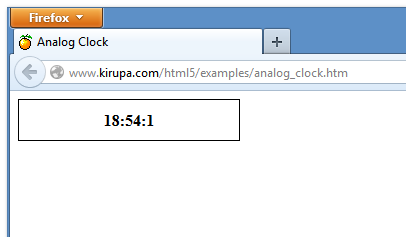Create an Analog Clock Using the Canvas | kirupa com