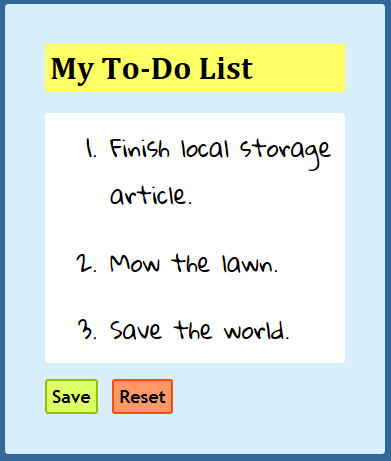 a to-do list example