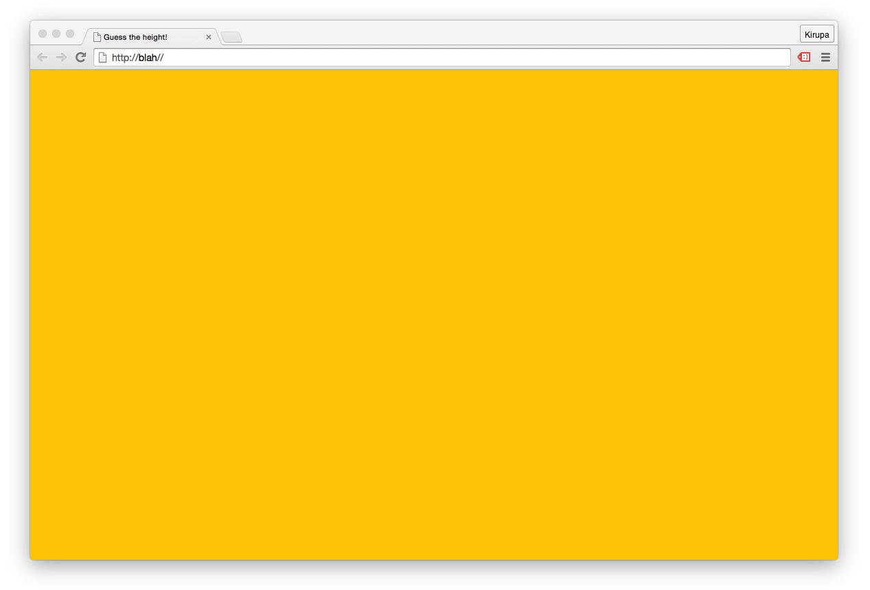 Make <body> Take Up 100% of the Browser Height | kirupa com