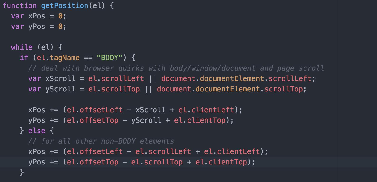 Get an Element's Position Using JavaScript | kirupa com