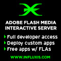 Interactive Flash Streaming with Influxis Flash Server Hosting: Fast, Reliable, Powerful, Affordable.